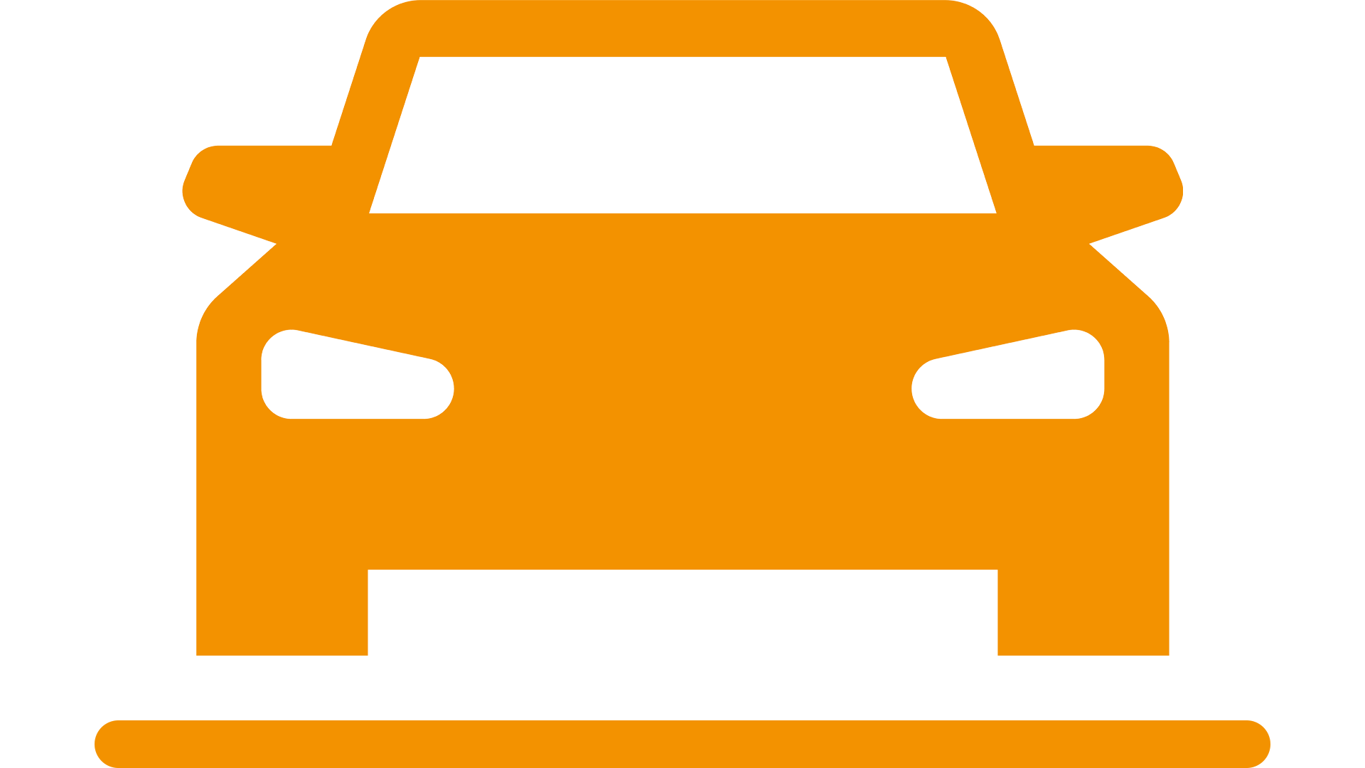pictogram of the front of a car