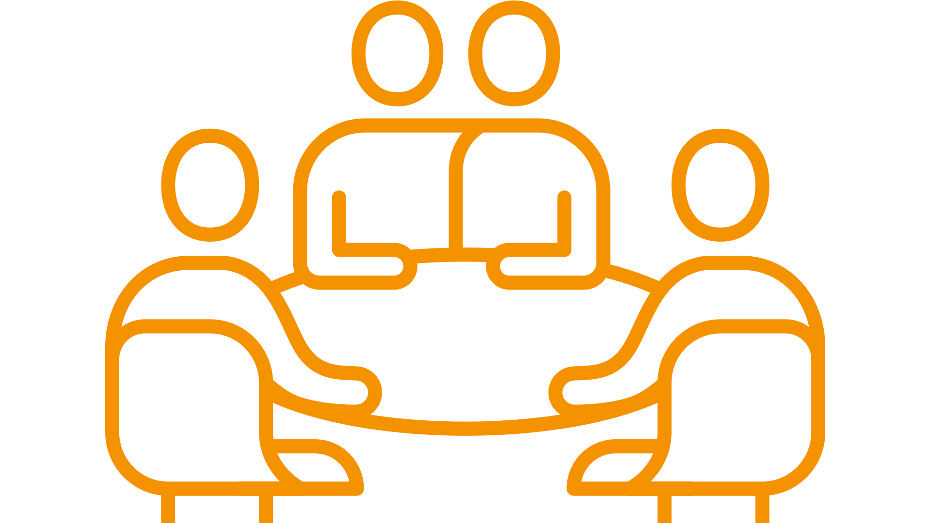 pictogram of people around a table