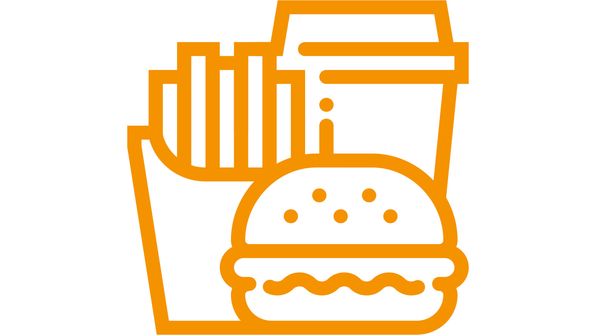 pictogram of a fastfood