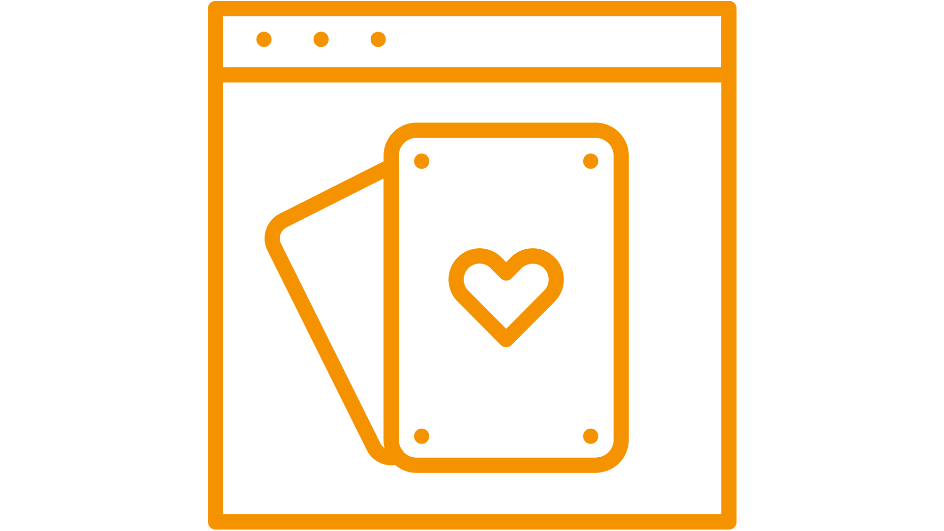 pictogram of a gaming- cards