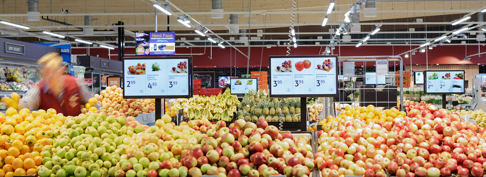 Banner of grocery store- fruit department
